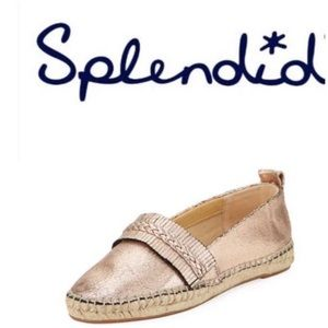 New with box Splendid leather espardrille slip on